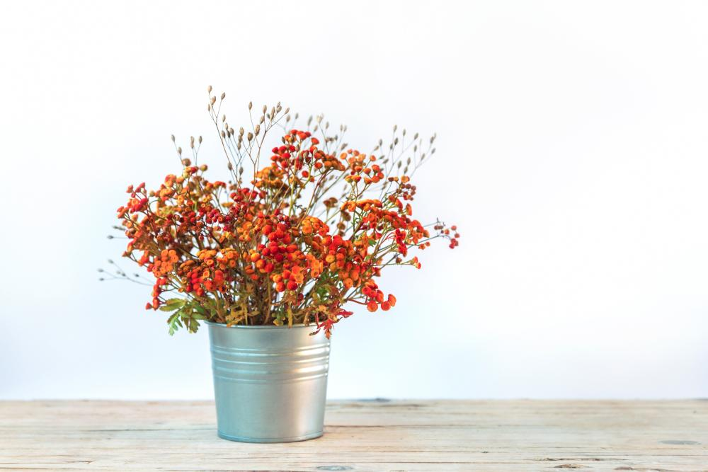 Tansy flowers bouquet thanksgiving decorations