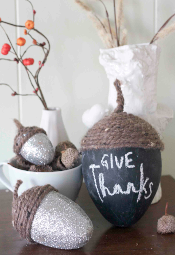 Thanksgiving Acorn DIY Centerpiece