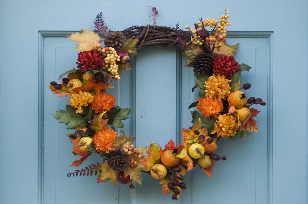 Thanksgiving assorted wreath diy thanksgiving decorations