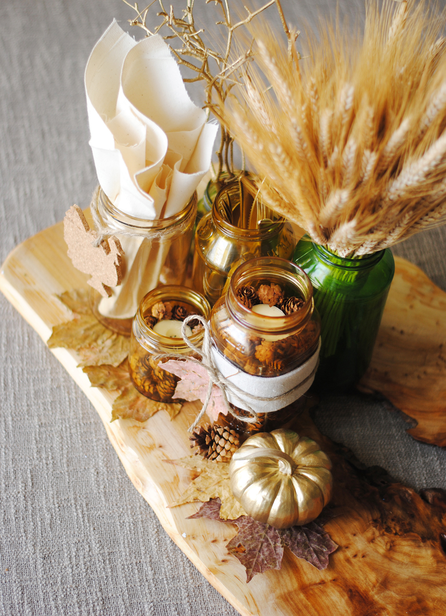 Lovely diy thanksgiving centerpieces