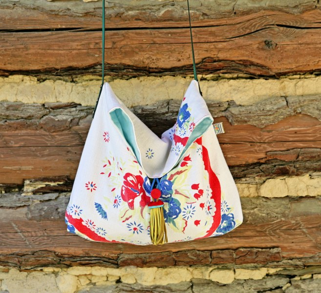 Vintage Cross Body Tote DIY