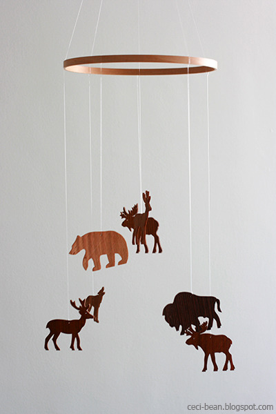 Woodland DIY baby Mobile