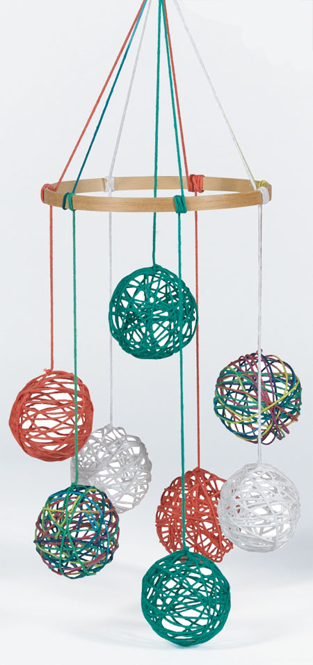 Yarn Ball Mobile DIY
