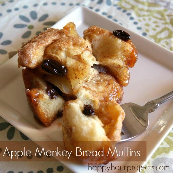 apple raisin monkeybread muffins