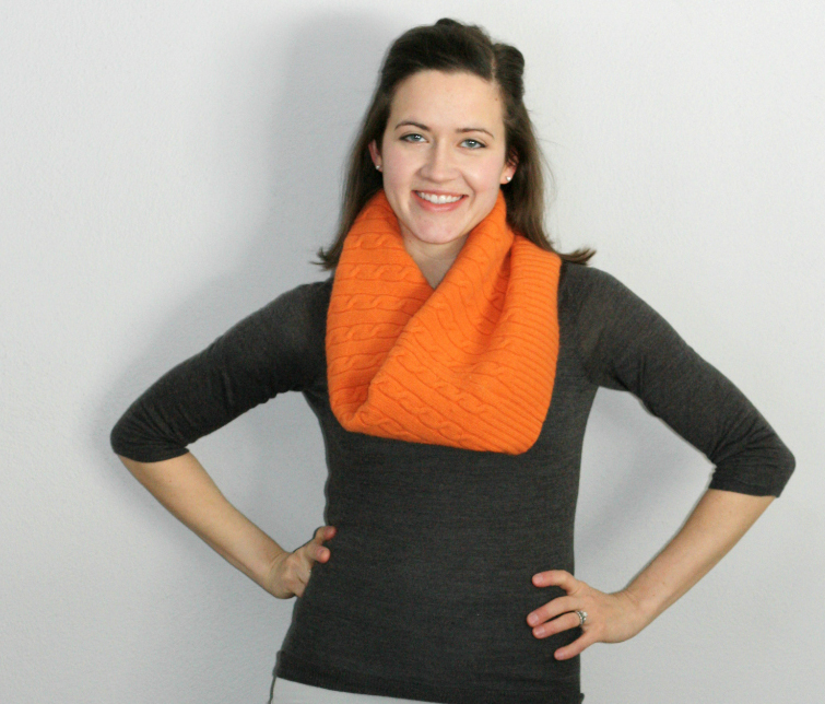 cable knit sweater cowl scarf