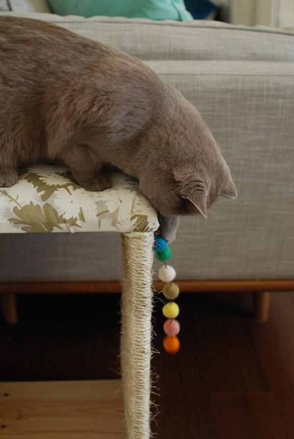 cat scratcher toy ikea hack