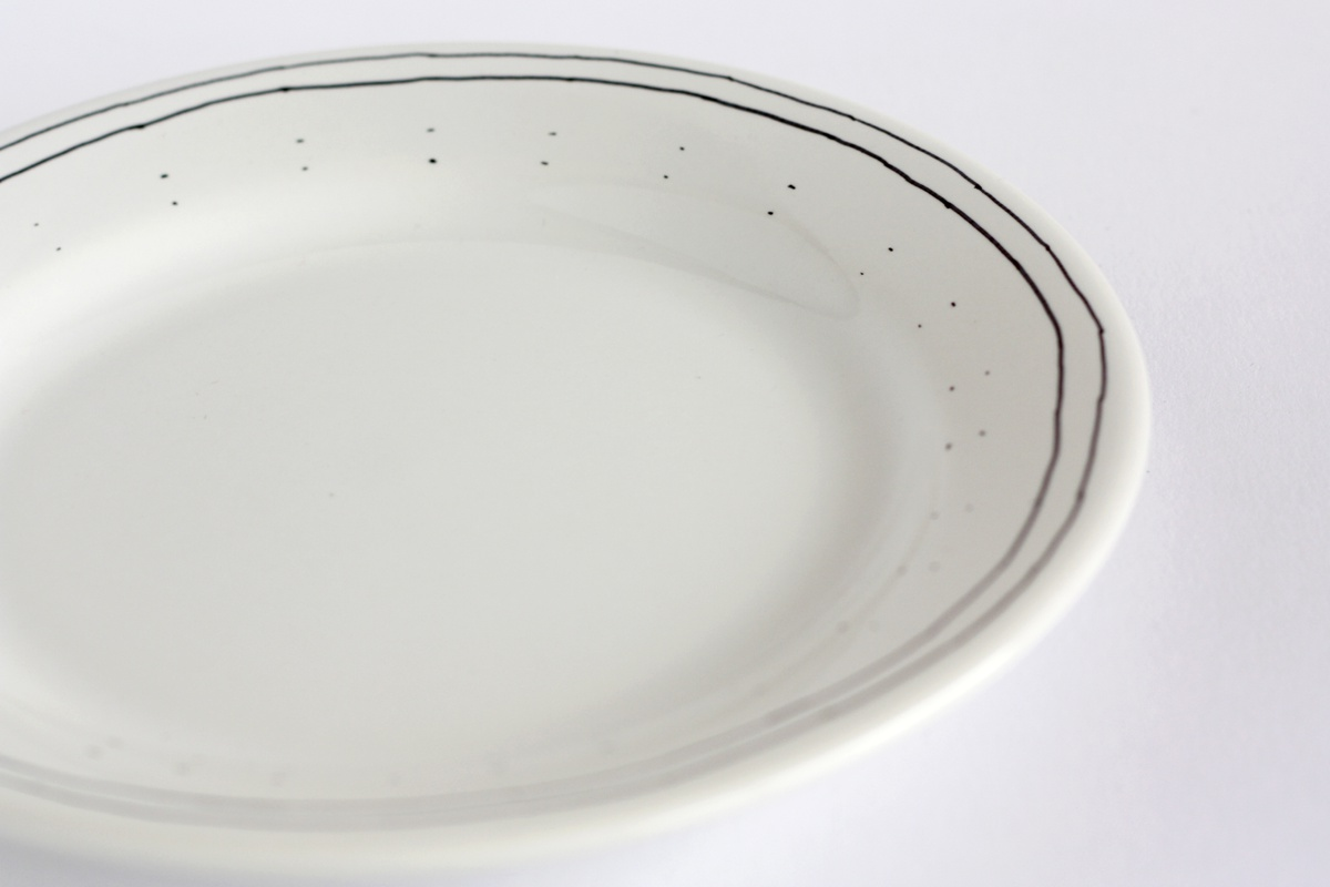 diy hand drawn plate double line