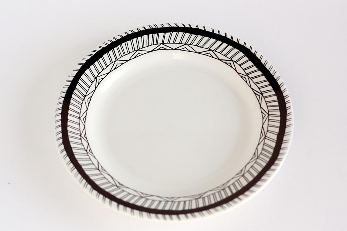 diy hand drawn plate finish