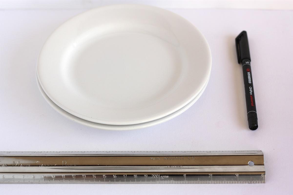 diy hand drawn plate materials