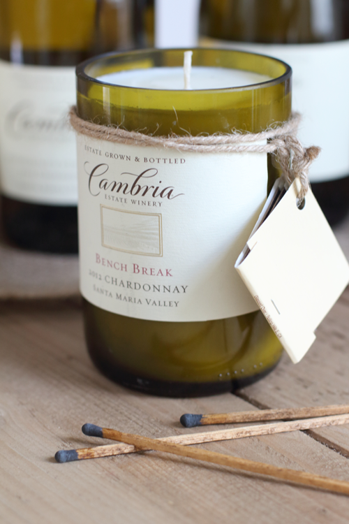 diy wine bottle candle