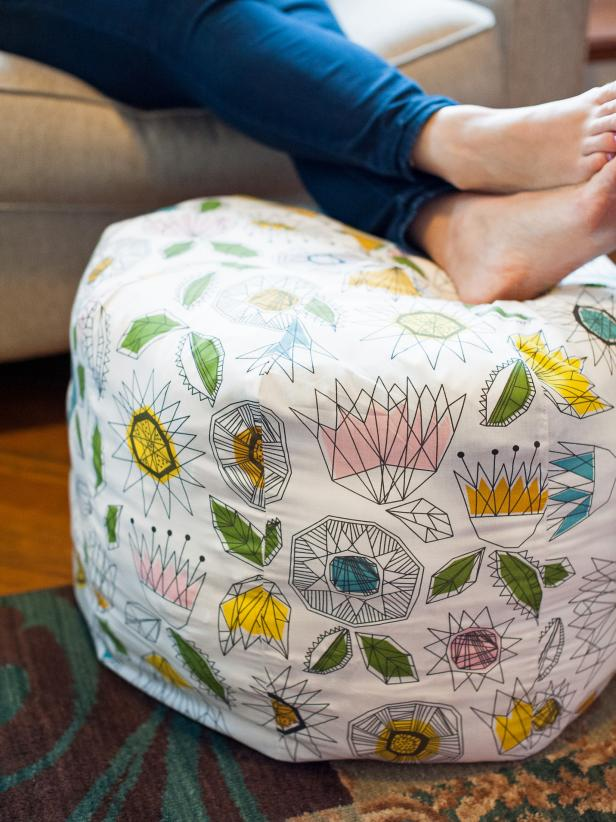fabric pouf tutorial