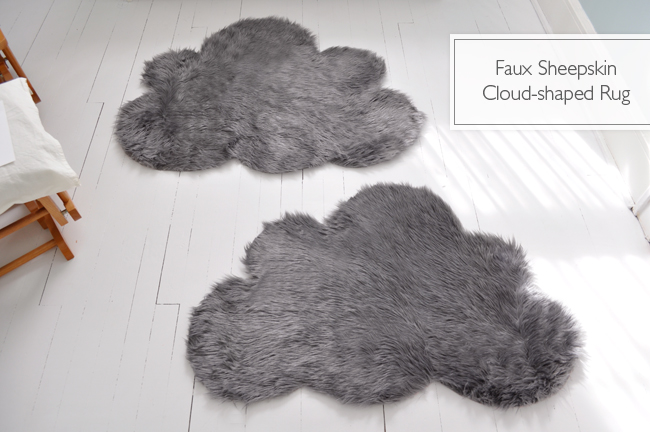 faux sheepskin cloud rug