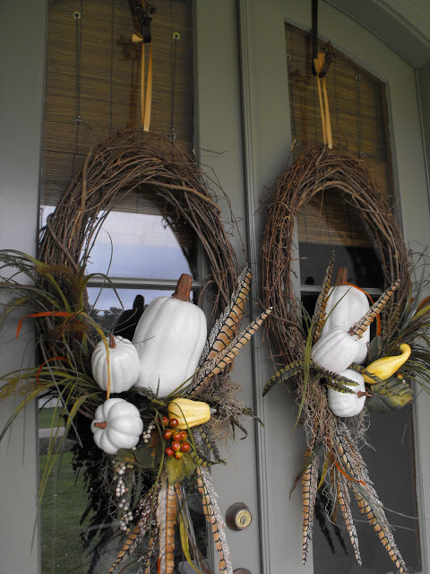 feather wreath thanksgiving