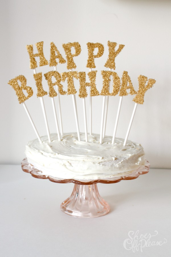 25 diy cake toppers for a variety of special occasions glitter cake topper vert solutioingenieria Image collections
