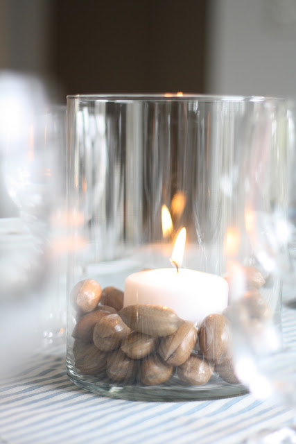 nut candle centerpiece