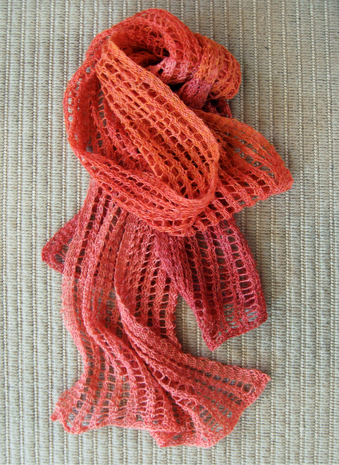 open weave color change scarf