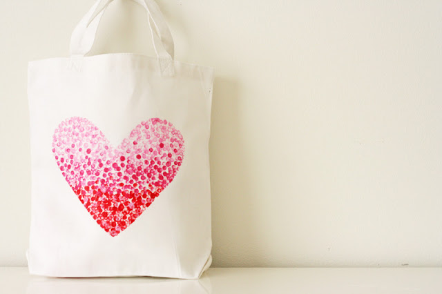 painted heart tote diy