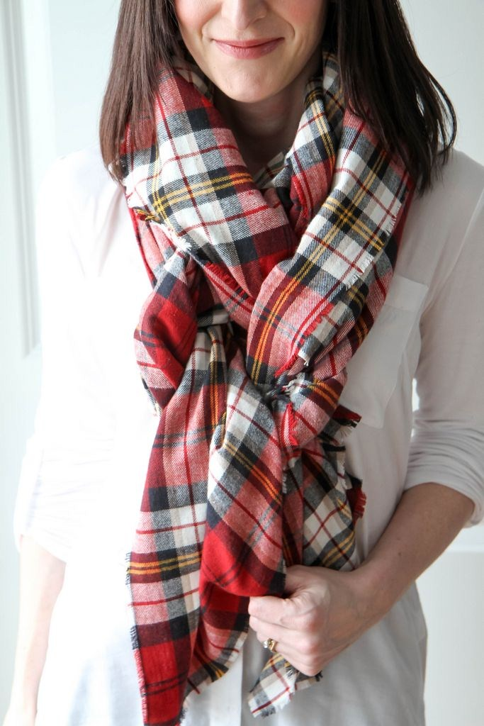 plaid blanket scarf diy