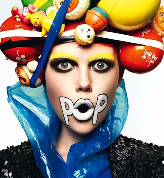 Pop Art Halloween Makeup Look