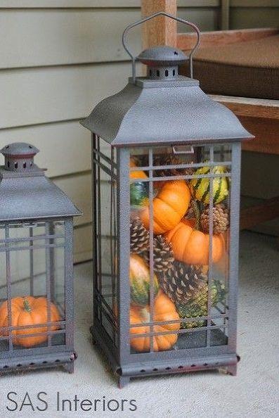 pumpkin pinecone lantern