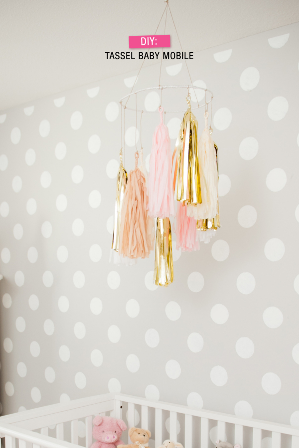 tassel baby mobile diy