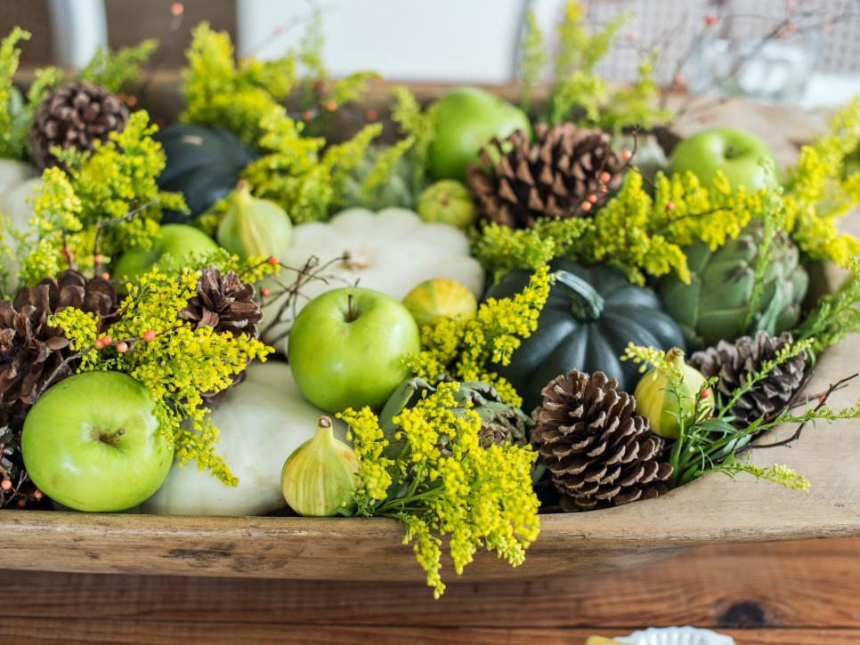 thanksgiving centerpiece green