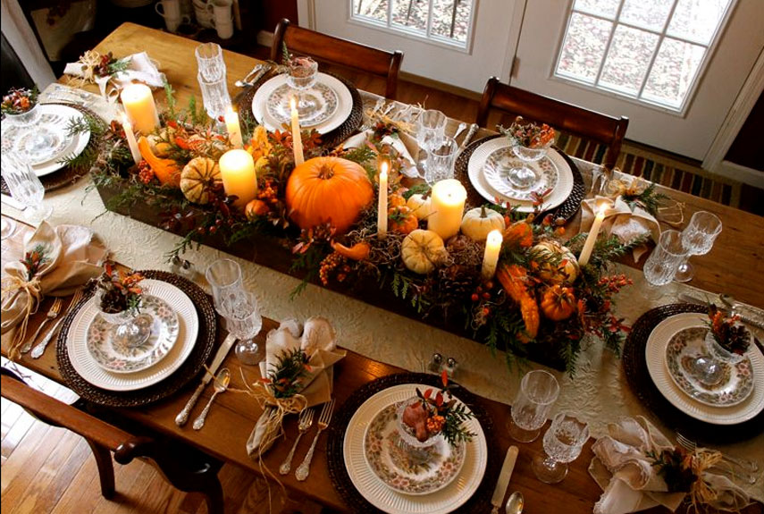traditional tablescape
