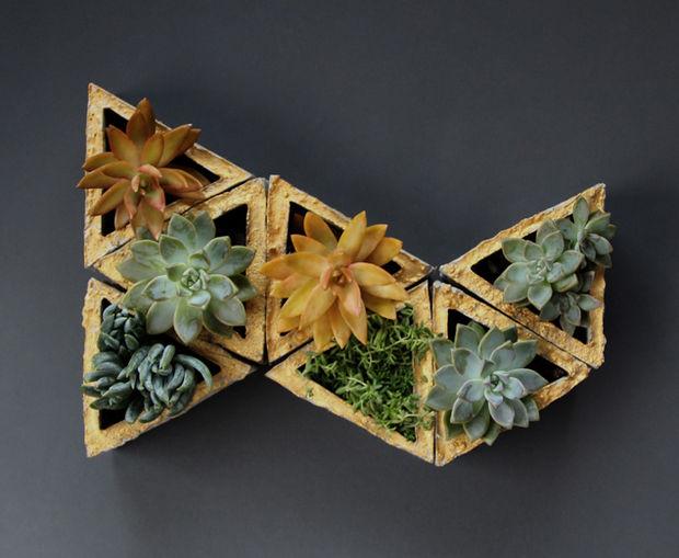 triangle succulent planters