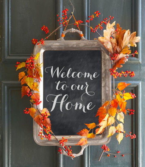 welcome to our home thanksgiving door sign diy
