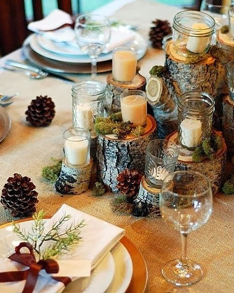 woodland centerpiece rustic