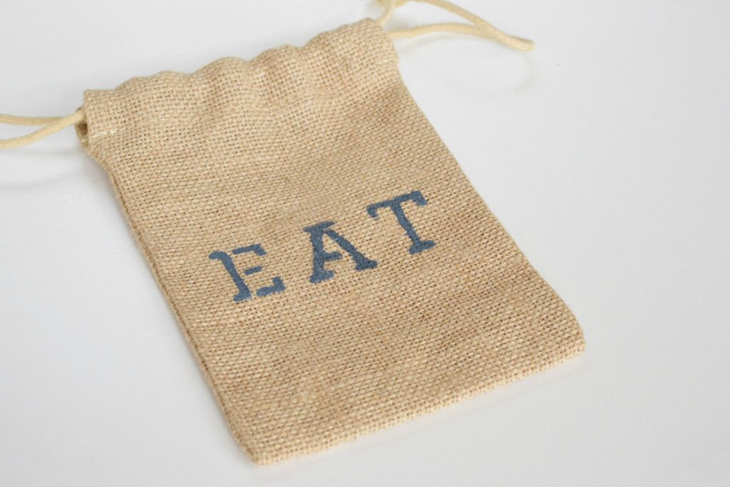 Burlap Utensil Holders - eat bag