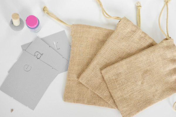 Burlap Utensil Holders - materials