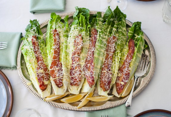 Cesar Wedge Salad With Bacon Winter recipe