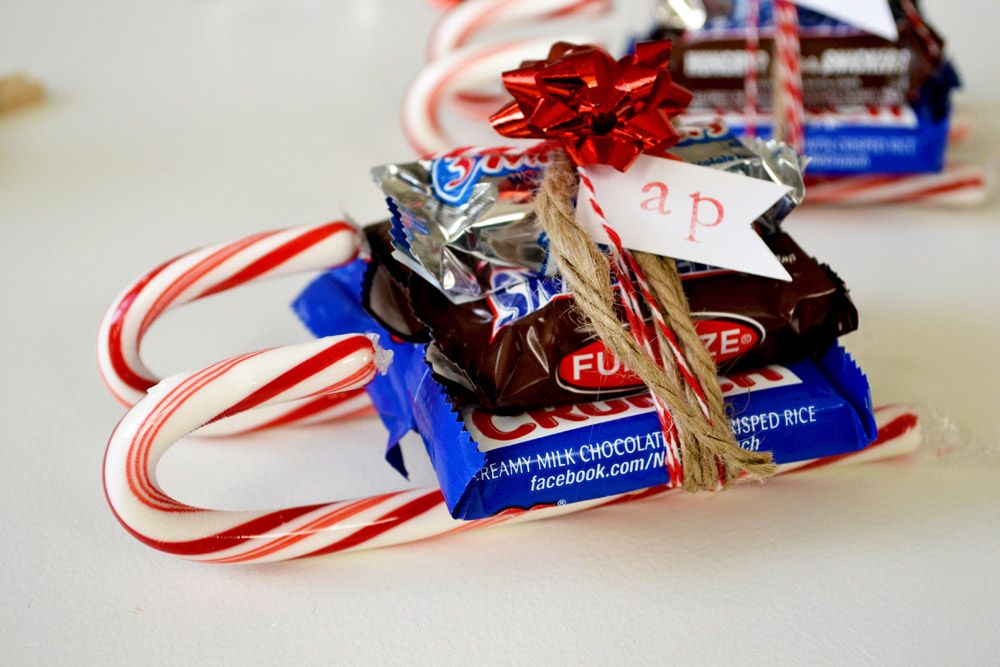 Christmas Candy Sleigh Holiday Favors