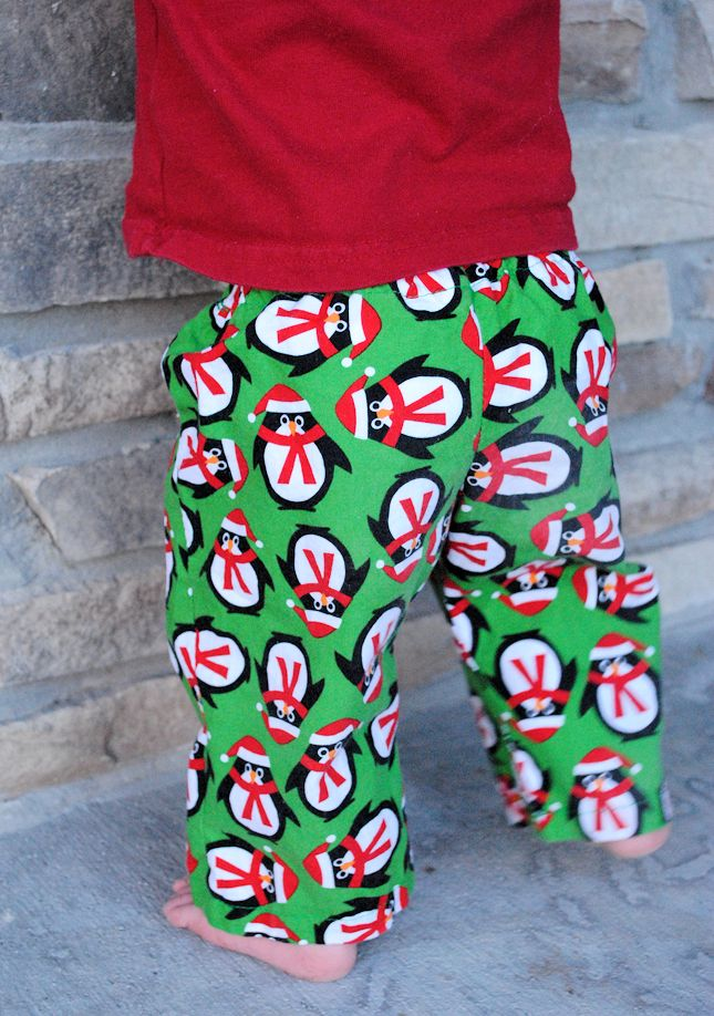 Christmas Pajama Pants DIY