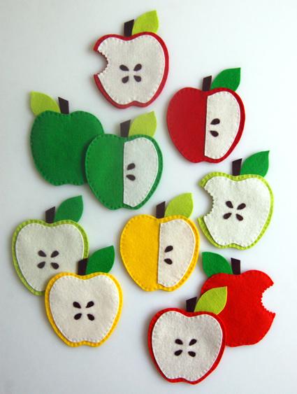 DIY Apple Coasters