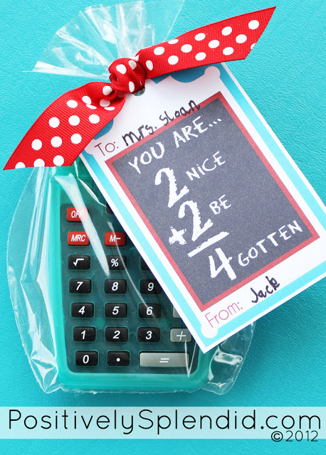 DIY Calculator Teacher Gift