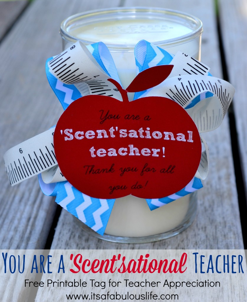 DIY Candle Teacher Gift
