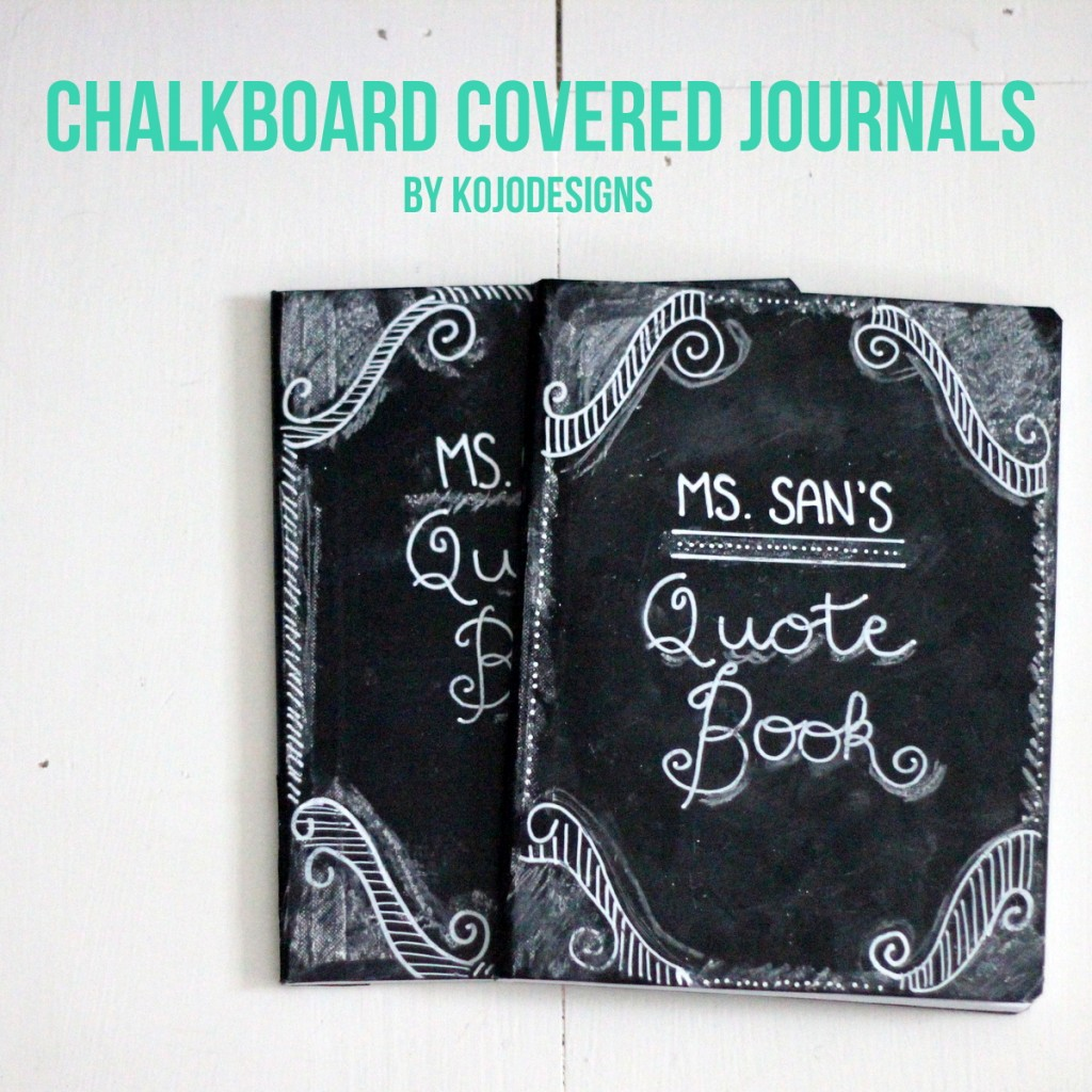 DIY Chalkboard Journal Teacher Gift