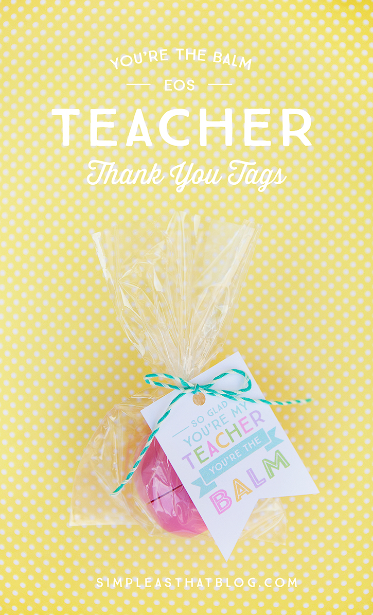 DIY Chapstick Teacher Gift