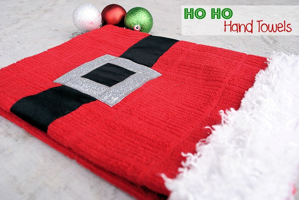 DIY Christmas Hand Towels