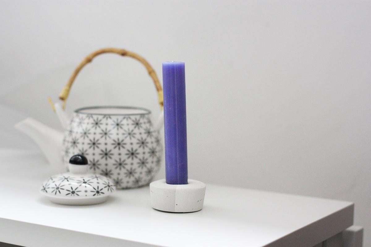 DIY Concrete Candle Holder set 2