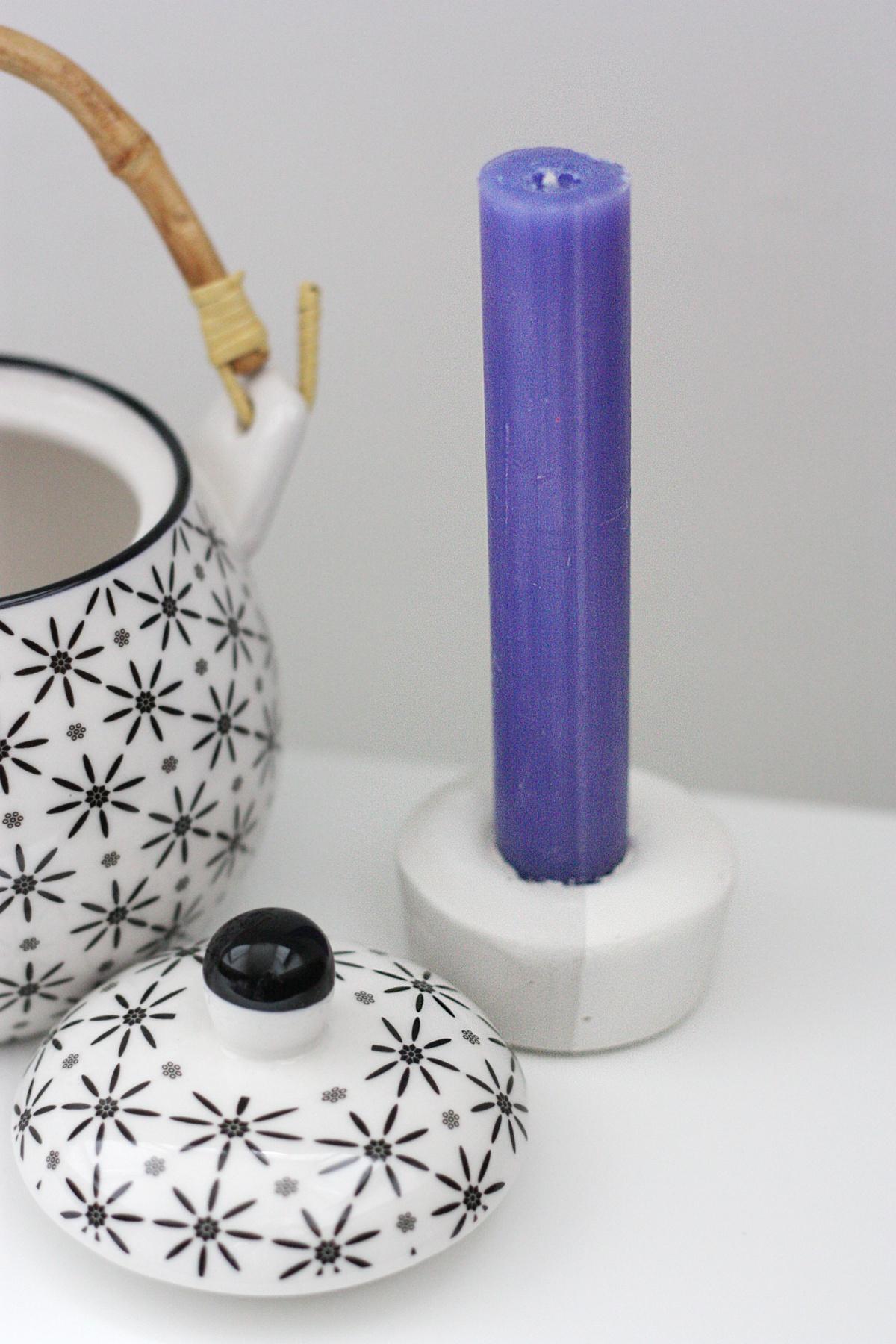 DIY Concrete Candle Holder set 3
