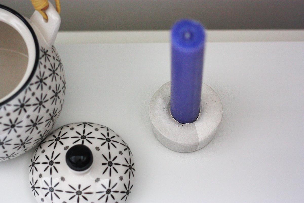 DIY Concrete Candle Holder set 4