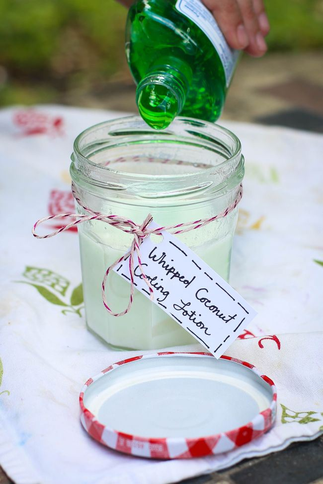 DIY Cooling Lotion