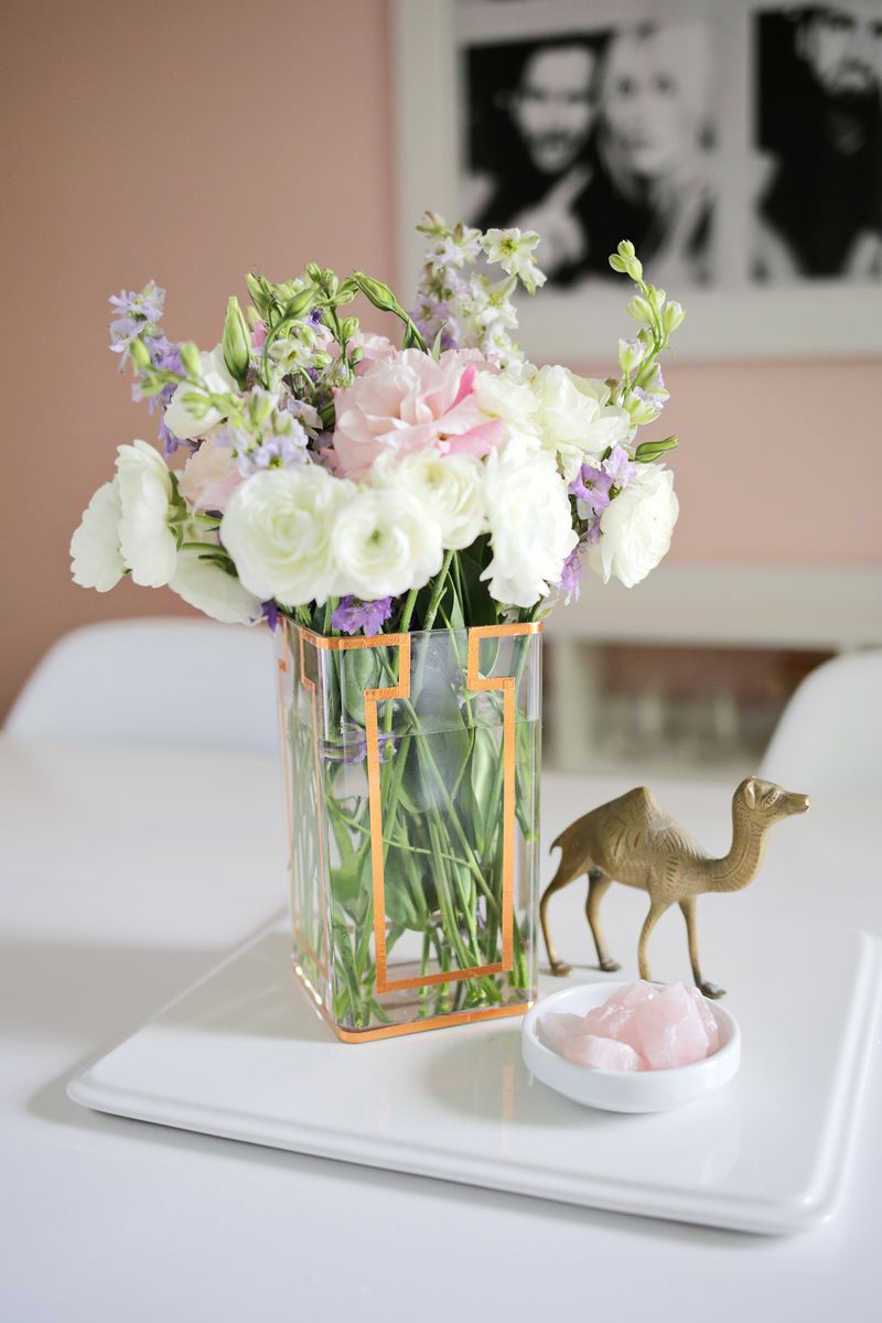 DIY Copper Tape Vase