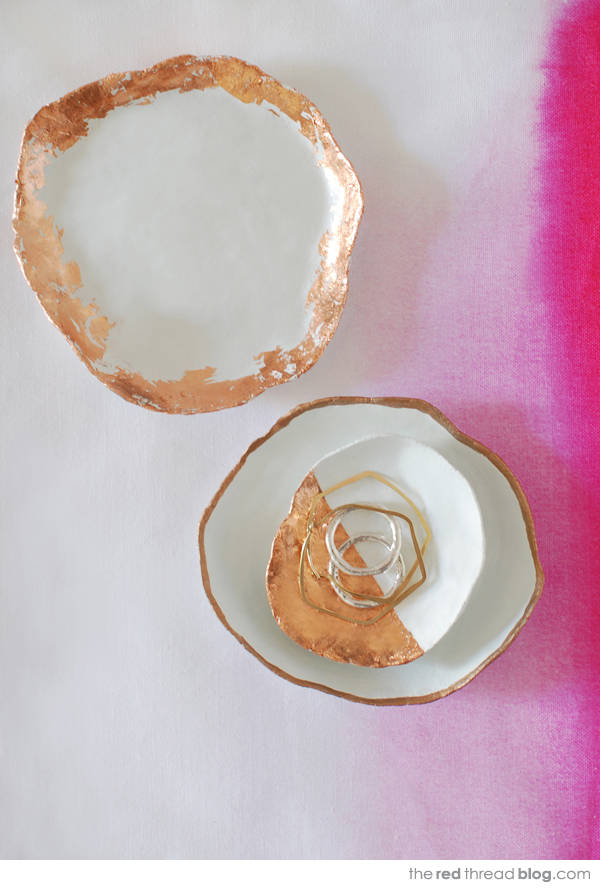 DIY Copper Trim Jewelry Dish