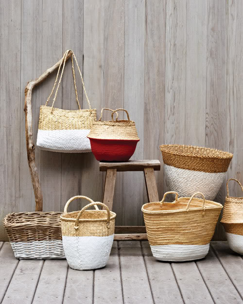 DIY Dip Dye Baskets