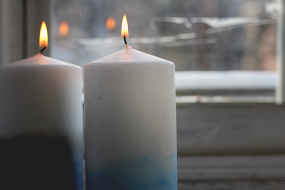 DIY Dip Dye Candles