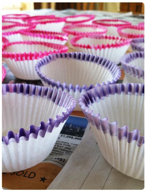 DIY Dip Dye Cupcake Liners